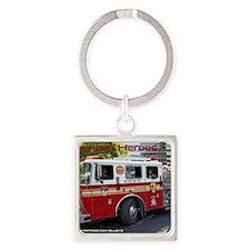 Fireman 06 Square Keychain