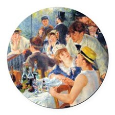 Renoir Boating Button Round Car Magnet
