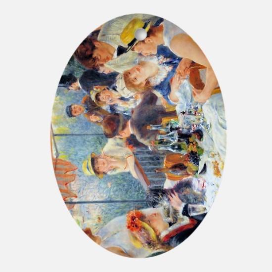 Renoir Boating Journal Oval Ornament