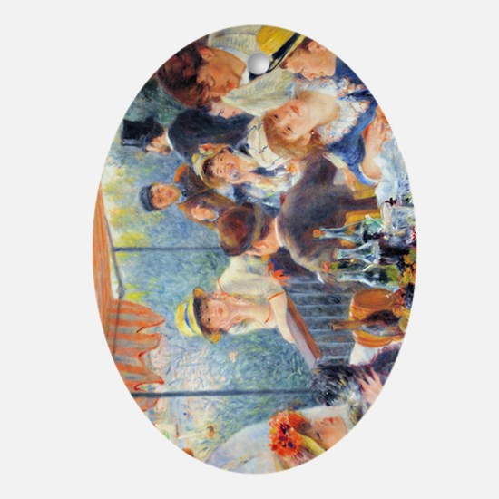 441 Renoir Boating Oval Ornament