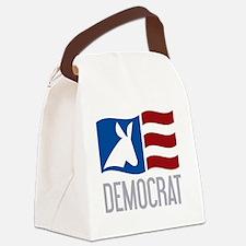 Democrat Donkey Flag Canvas Lunch Bag