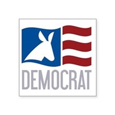 """Democrat Donkey Flag Square Sticker 3"""" x 3"""""""