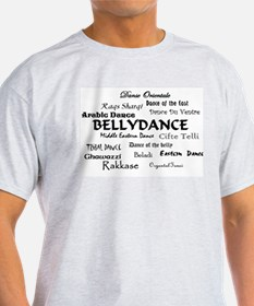 Names of Bellydance round T-Shirt