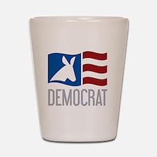 Democrat Donkey Flag Shot Glass