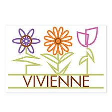 VIVIENNE-cute-flowers Postcards (Package of 8)