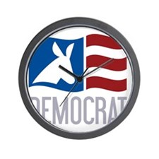 Democrat Donkey Flag Wall Clock