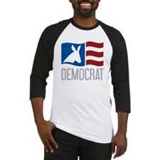 Democrat Donkey Flag Baseball Jersey