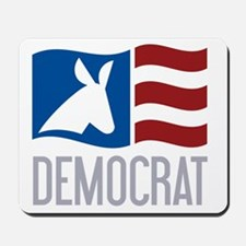 Democrat Donkey Flag Mousepad