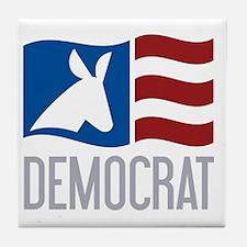 Democrat Donkey Flag Tile Coaster