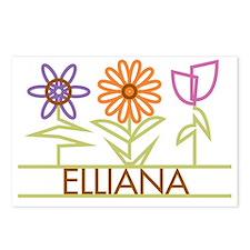 ELLIANA-cute-flowers Postcards (Package of 8)