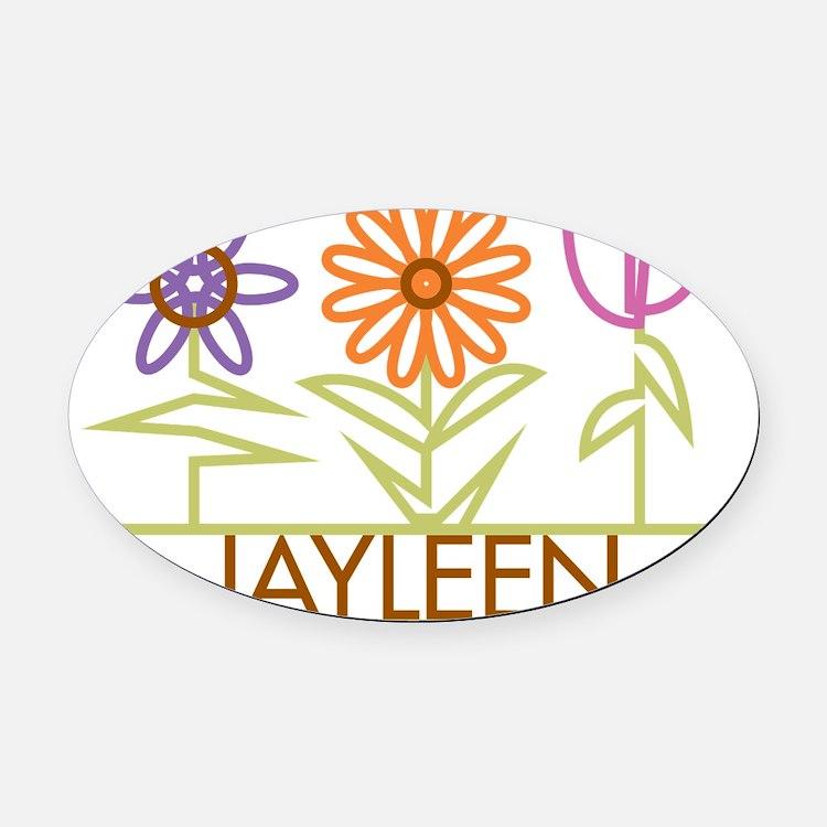 JAYLEEN-cute-flowers Oval Car Magnet