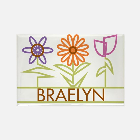 BRAELYN-cute-flowers Rectangle Magnet