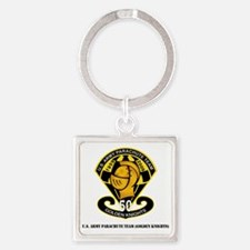 SSI-USAPTGoldenKnights-txt Square Keychain