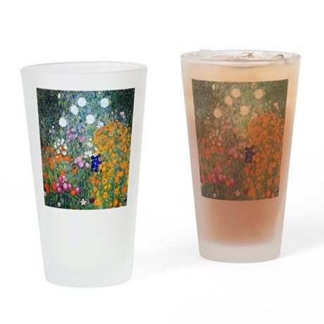 iPad Klimt Flowers Drinking Glass