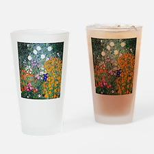 iPad Klimt Flowers Drinking Glass