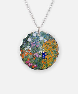 iPad Klimt Flowers Necklace