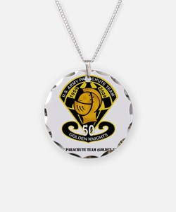 SSI-USAPTGoldenKnights-txt Necklace