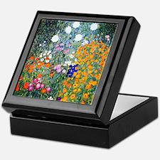 iPad Klimt Flowers Keepsake Box