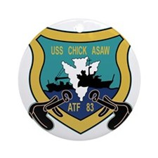ATF-83 USS Chick Asaw Military Patc Round Ornament