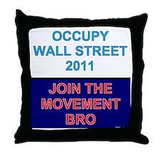 Join-the-movement-bro Throw Pillow