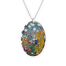 Journal Klimt Flowers Necklace