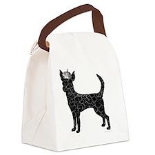 DanteKing_blackdistressed Canvas Lunch Bag