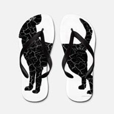 DanteKing_blackdistressed Flip Flops