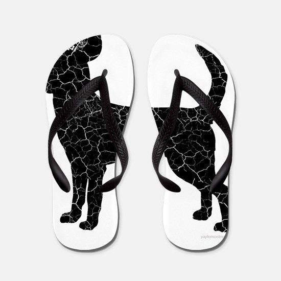 DanteKing_blackdistressed Flip Flops
