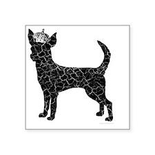 "DanteKing_blackdistressed Square Sticker 3"" x 3"""