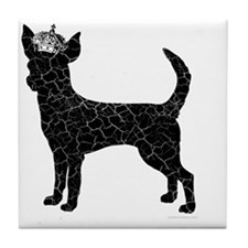 DanteKing_blackdistressed Tile Coaster