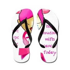 cancer_hope_cure Flip Flops