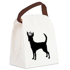 DanteKing_black Canvas Lunch Bag