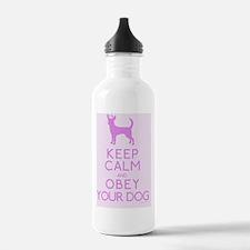 pinkmagnet_obey Water Bottle