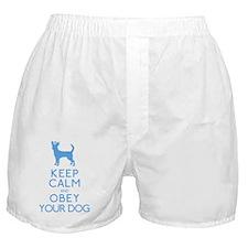 babyblue_obey copy Boxer Shorts