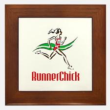 RunnerChick Logo Framed Tile