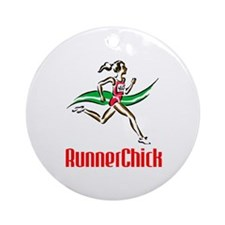 RunnerChick Logo Ornament (Round)