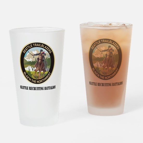 Seattle - Recruiting Bn with text Drinking Glass