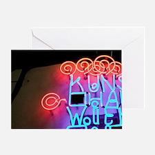 Vienna: Kunst Haus Wein Neon Sign Vi Greeting Card