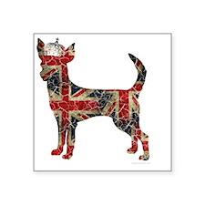 "DanteKing_britishdistressed Square Sticker 3"" x 3"""