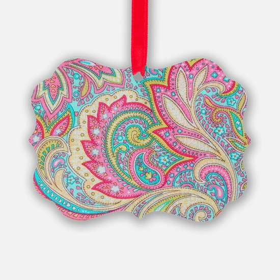Toiletry Pink Paisley Ornament