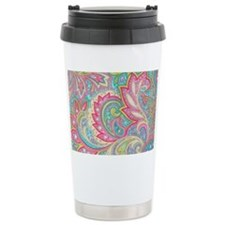 Toiletry Pink Paisley Travel Coffee Mug
