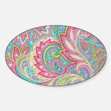 Toiletry Pink Paisley Sticker (Oval)