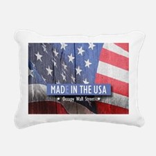 MAD IN THE USA--Occupy W Rectangular Canvas Pillow