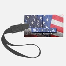 MAD IN THE USA--Occupy Wallstree Luggage Tag