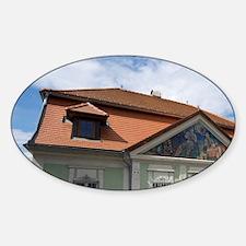 Building in town Wachau Valley, Low Sticker (Oval)