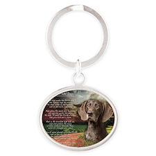 godmadedogs2 Oval Keychain
