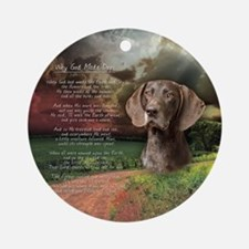 godmadedogs(button) Round Ornament