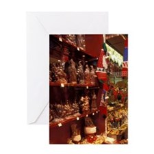 EU, France, Saverne. Christmas windo Greeting Card