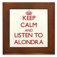Keep Calm and listen to Alondra Framed Tile