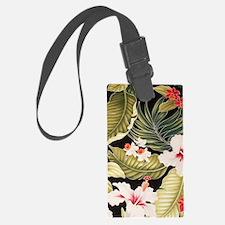 blackhibiscusorchidipadsleeve Luggage Tag